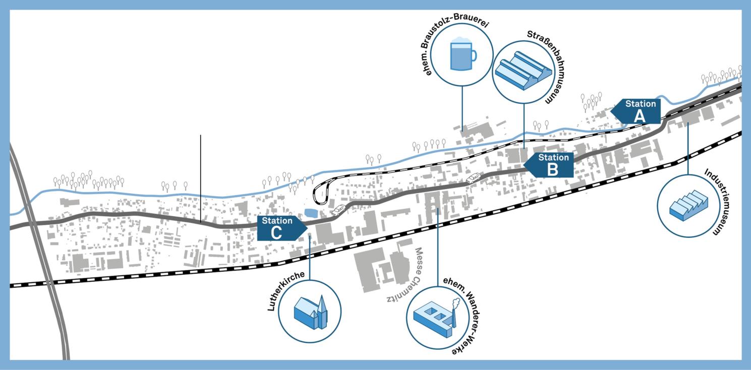 Planzeichnung Zwickauer Straße
